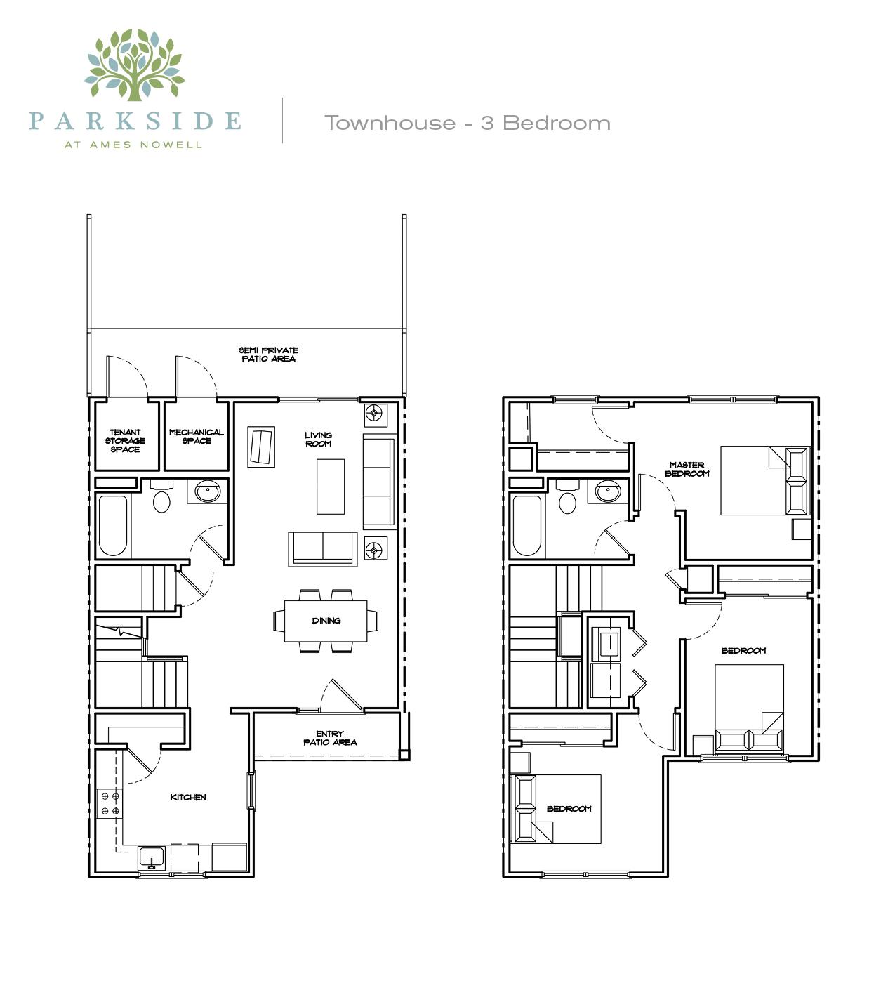 Parkside 1 Townhouse 3 bedroom alternate